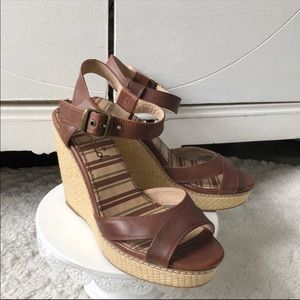 Splendid Kutie Leather Wedge Sandals